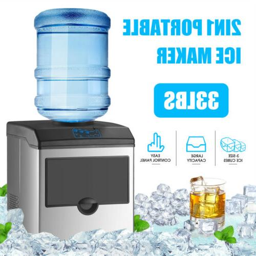 Water w/ Built-In Ice Maker Machine Portable