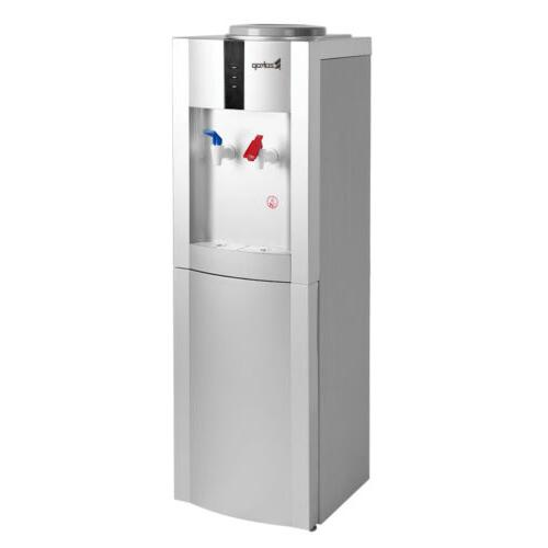 5 Gallon Electric Freestanding Hot/Cold Cooler White