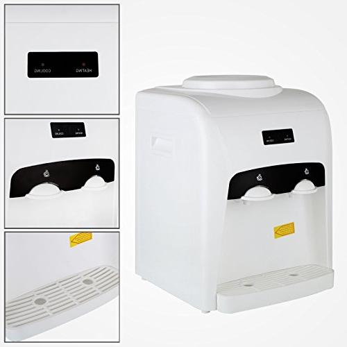 KUPPET Hot Cold Water Cooler Top Office 3-5