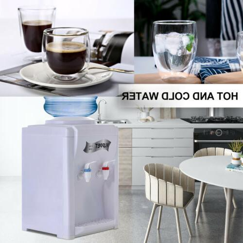 Top Loading Electric Countertop Hot Cold Cooler Dispenser White