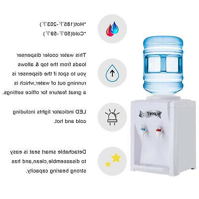 Electric Dispenser Cold Water Cooler 3-5 Gallon Home Office Use Desktop