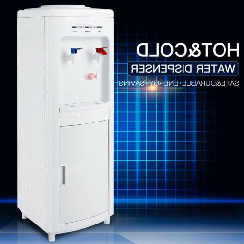 electric water cooler dispenser hot cold top