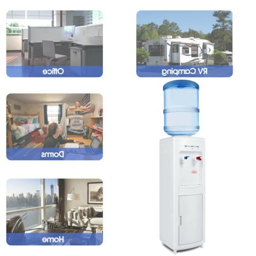 Freestanding Water Hot Cold Dispenser Water Cooler Storage