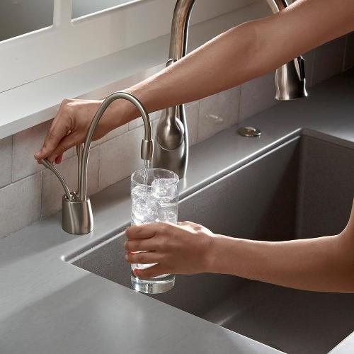 Double Hot Cold Water in Polished Nickel