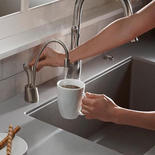 InSinkErator Hot and Cold Dispenser Faucet, Nickel