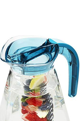 Home Ikon 2.5 liter Fruit w/Ice Free, High-Grade Infuser Perfect Healthy Fruit Cold