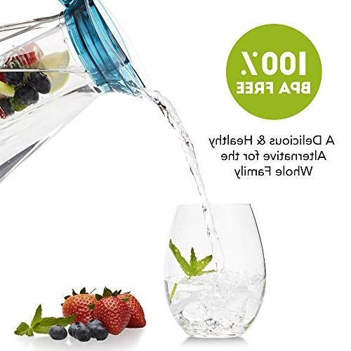 Home 2.5 Fruit Infuser w/Ice | Free, Infuser Jug Perfect Healthy Infusions Cold