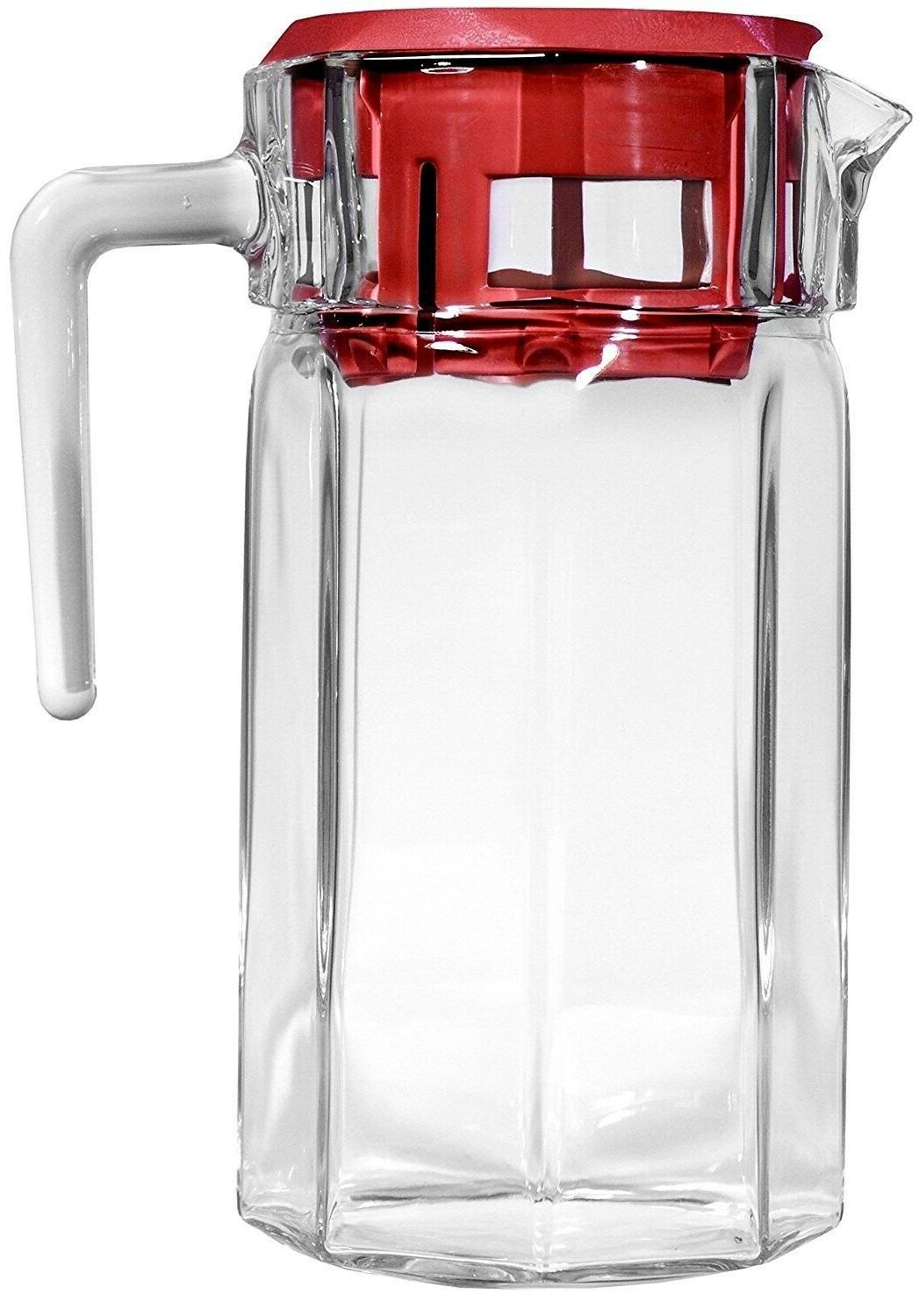 Glass With Drink Ice Tea Carafe Cold Water Beverage Dispenser