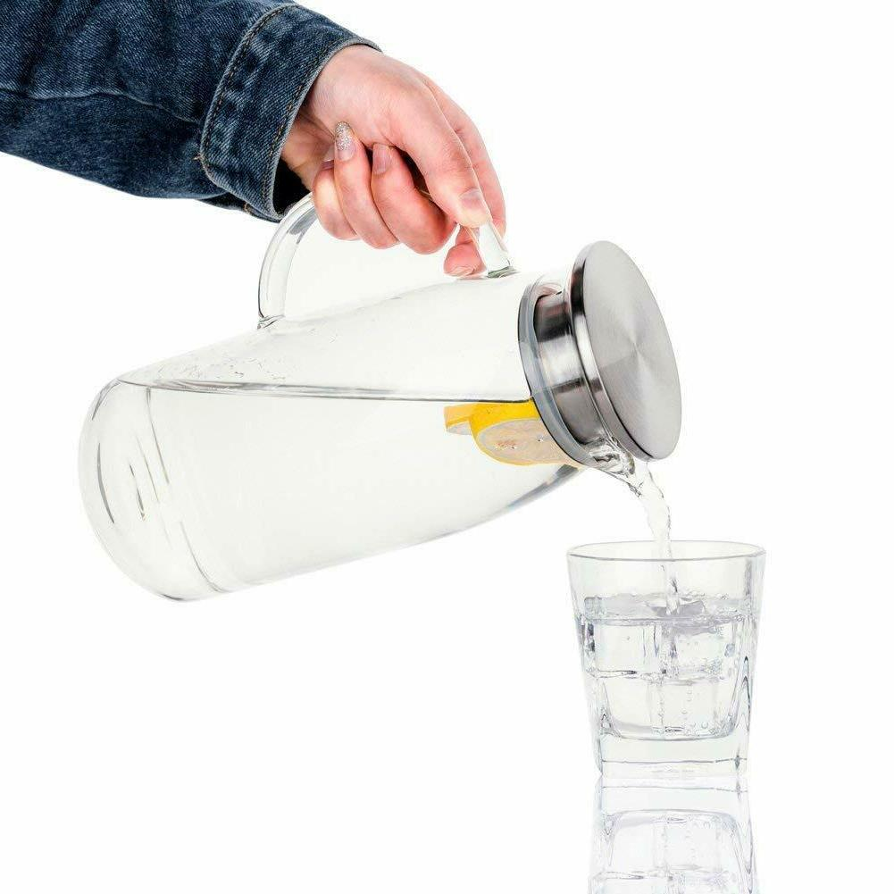 Glass Ice Tea Drink Carafe Water