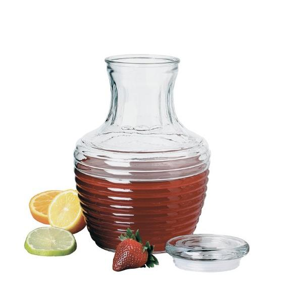 glass pitcher with lid ice tea large