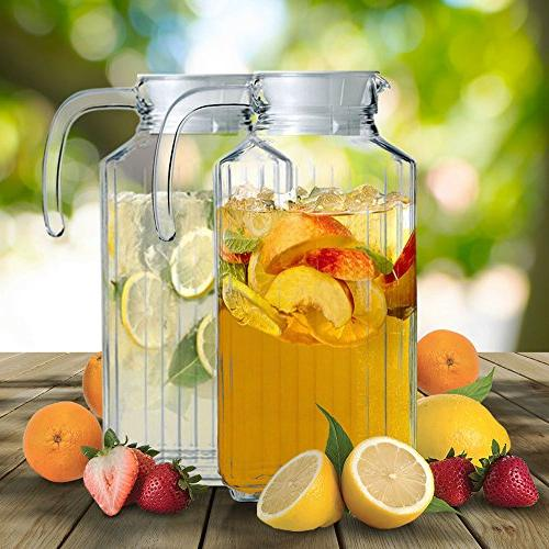 Set Pitchers Spout, Design Dispenser Handle Chilled Iced or Water