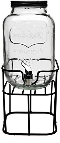 Circleware 69122 Sun Tea Mini Mason Jar Glass Beverage Dispe