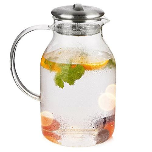Hiware 68 Pitcher with Spout Heat Pitcher Hot/Cold & Iced Tea