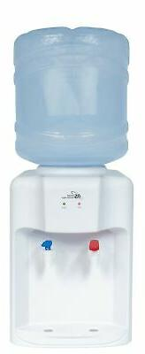 Hot and Cold Tabletop Water Dispenser in White with Child Sa