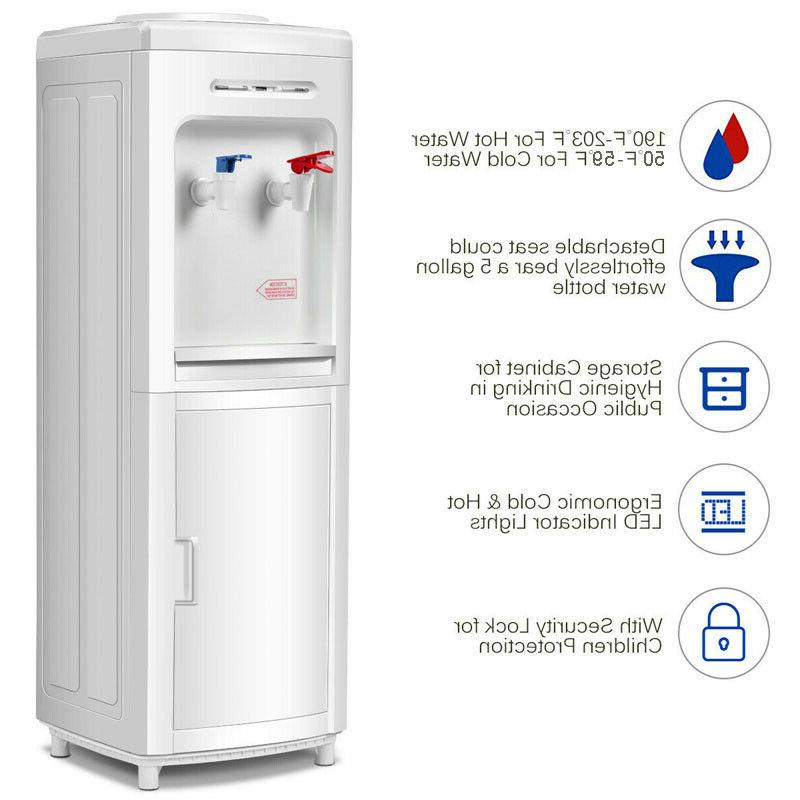 5 Gallons Home Machine Hot&Cold Top Water Free standing