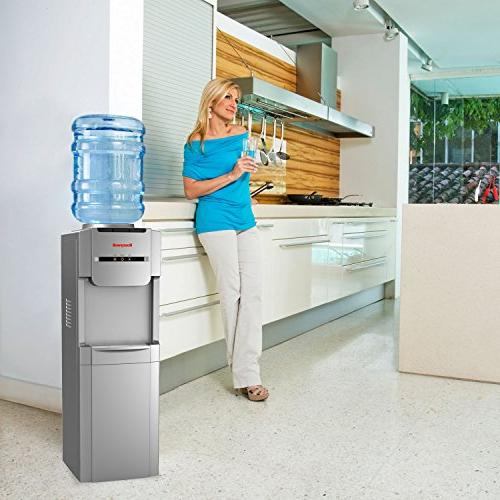 Honeywell 38-Inch Freestanding Hot, Cold Water Dispenser with Steel Tank help improve water taste, and Thermostat Control,