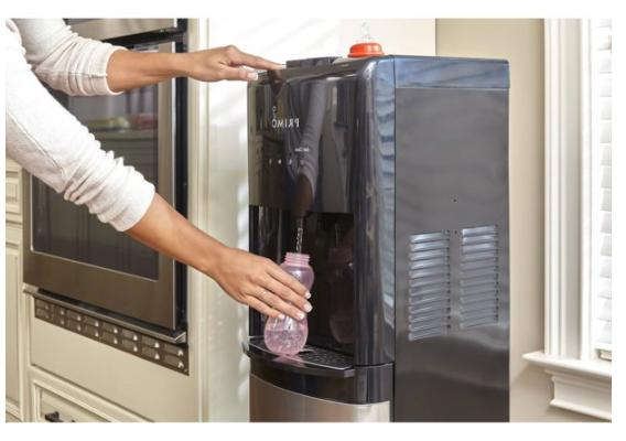 Hot Cold Water Dispenser w/ Built-In Ice Maker Kitchen Porta