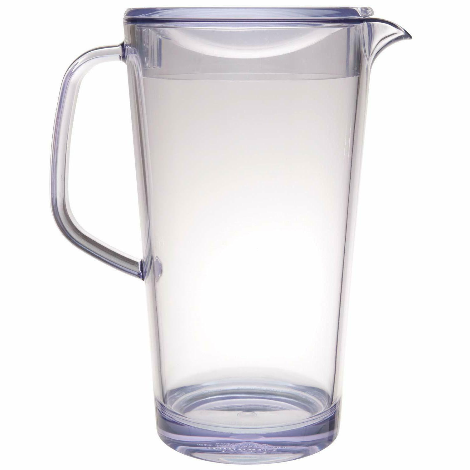 Pitcher with Lid Beverage Ice Tea Carafe Juice Clear