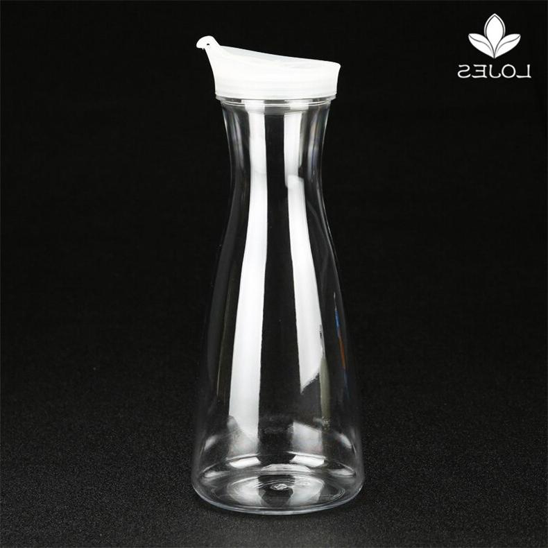 Plastic <font><b>Water</b></font> <font><b>Carafe</b></font> for Coffee Juice Tea with Lid Drinkware