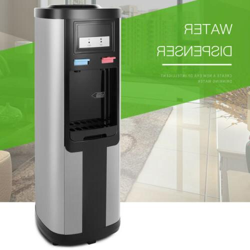 stainless steel hot cold water cooler dispenser