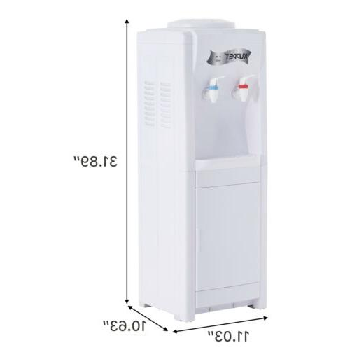 5 Electric Loading Freestanding Water Cooler White