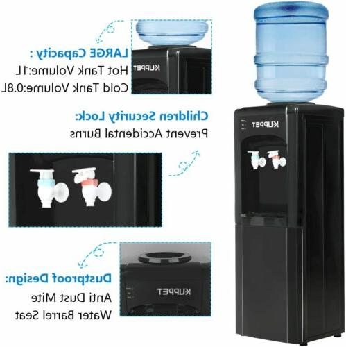 Water Cooler Dispenser Top and COLD