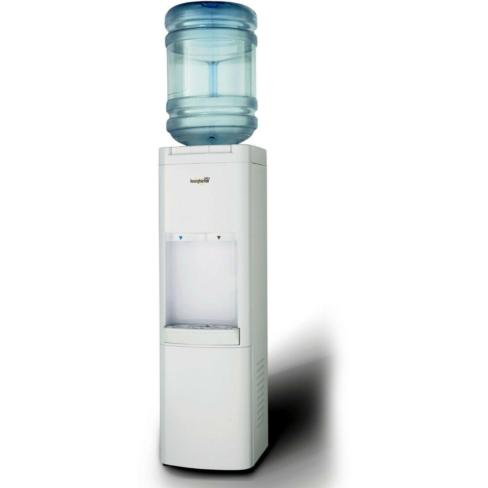 water cooler dispenser hot cold gallon loading