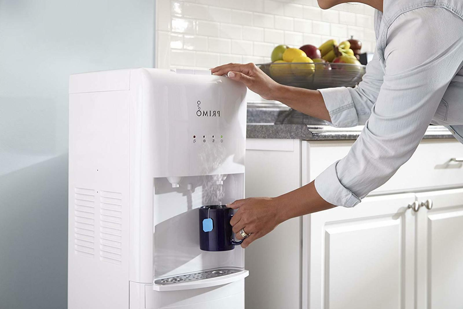 Primo White 2 Spout Bottom Load Hot and Cold Water Cooler Di