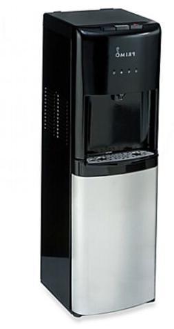 Bottom Load Hot Cool and Cold Water Dispenser in Black/Stain