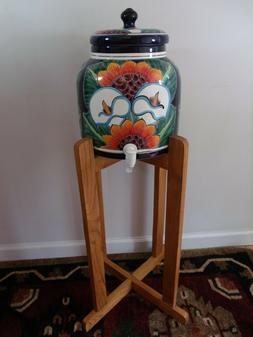 New Ceramic Water Dispenser With Sunflowers And Wood Floor S