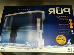 New PUR Max Ion Water Filtration System 18 Cup Dispenser Whi