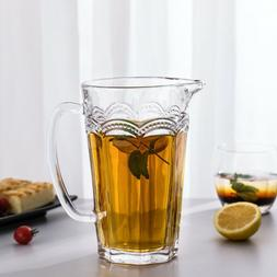 Pearl Ridge Glass Pitcher - Everyday Water Carafe - Beverage