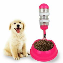 Pet Automatic Water Drinker with Food Dish Dog and Cat Dispe