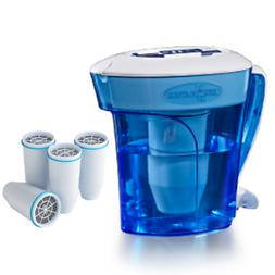 ZeroWater 10-Cup Pitcher 5 Replacement Filter Free Water Qua