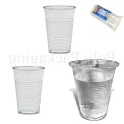 PLASTIC CLEAR Disposable Cups 7oz SMALL 190ml Birthday Party