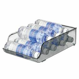 mDesign Plastic Water Bottle Tray Storage Rack and Dispenser