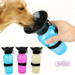 Portable Water Bottle Dispenser Cup for Dog Pet Puppy Travel
