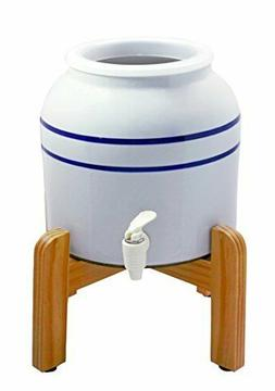 New Wave Enviro Products Blue Striped Porcelain Dispenser wi