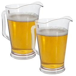 2 Pack | Restaurant Quality Plastic 64oz Water/Beer Pitcher