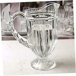 Riverdale Glass Carafe Water Pitcher with Handle Drinking Di
