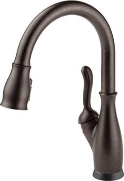 Single-Handle Kitchen Faucet Pull-Down Sprayer Bronze Touch-