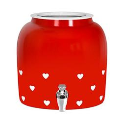Brio Valentines Heart Porcelain Ceramic Water Dispenser Croc