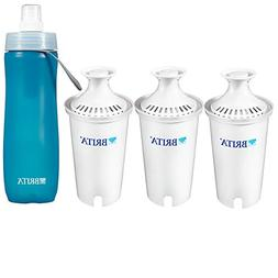 Brita Value Pack 3 Filters with 1 Sport Bottles 20 Fl.Oz