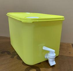 TUPPERWARE WATER DISPENSER 6 L / 24 CUPS - IN YELLOW COLOR