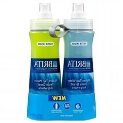 Brita Sport Water Filter Bottle, Twin Pack, Blue and Green,