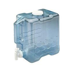 Water Jug 2 Gallon for Container With Spigot Handle Plastic